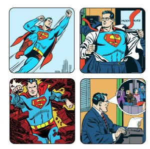 Superman Classic boxed set of drinks mats / coasters   (hb)